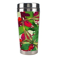 Floral Print Colorful Pattern Stainless Steel Travel Tumbler