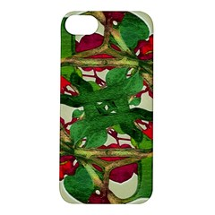 Floral Print Colorful Pattern Apple iPhone 5S Hardshell Case