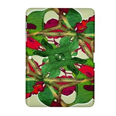 Floral Print Colorful Pattern Samsung Galaxy Tab 2 (10.1 ) P5100 Hardshell Case