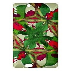 Floral Print Colorful Pattern Kindle Fire HDX Hardshell Case