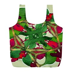Floral Print Colorful Pattern Reusable Bag (L)