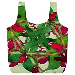 Floral Print Colorful Pattern Reusable Bag (XL)