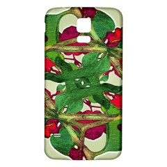 Floral Print Colorful Pattern Samsung Galaxy S5 Back Case (White)