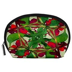 Floral Print Colorful Pattern Accessory Pouch (large)