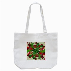 Floral Print Colorful Pattern Tote Bag (White)