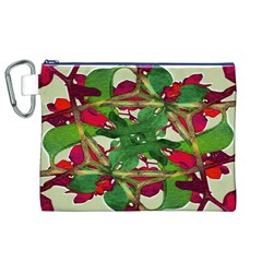 Floral Print Colorful Pattern Canvas Cosmetic Bag (XL)