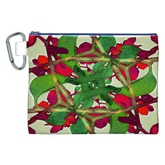 Floral Print Colorful Pattern Canvas Cosmetic Bag (XXL)