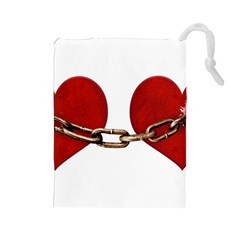 Unbreakable Love Concept Drawstring Pouch (Large)