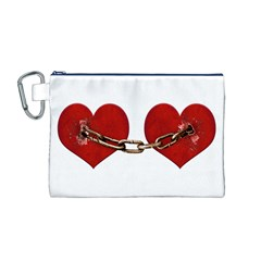 Unbreakable Love Concept Canvas Cosmetic Bag (medium)