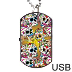 Geisha Dog Tag USB Flash (Two Sides)