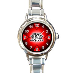 Create Your Own Custom Products And Gifts Round Italian Charm Watch
