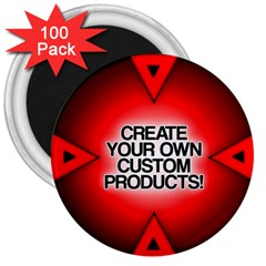 Create Your Own Custom Products And Gifts 3  Button Magnet (100 Pack)