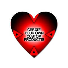 Create Your Own Custom Products And Gifts Magnet (heart)