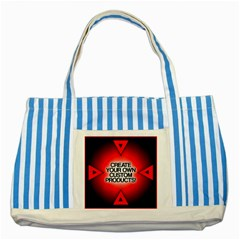 Create Your Own Custom Products And Gifts Blue Striped Tote Bag