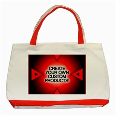 Create Your Own Custom Products And Gifts Classic Tote Bag (red)