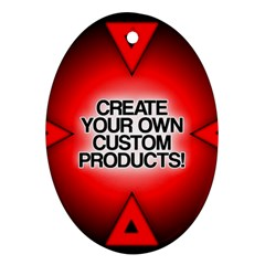 Create Your Own Custom Products And Gifts Oval Ornament (two Sides)