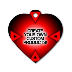 Create Your Own Custom Products And Gifts Dog Tag Heart (one Sided)