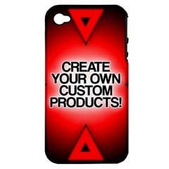 Create Your Own Custom Products And Gifts Apple Iphone 4/4s Hardshell Case (pc+silicone)