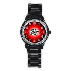 Create Your Own Custom Products And Gifts Sport Metal Watch (black)
