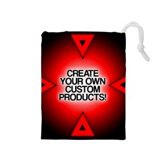 Create Your Own Custom Products And Gifts Drawstring Pouch (Medium)