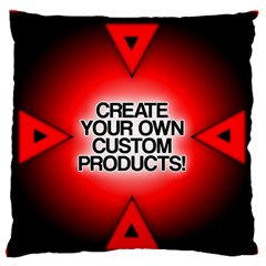 Create Your Own Custom Products And Gifts Large Flano Cushion Case (Two Sides)