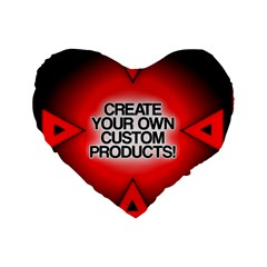 Create Your Own Custom Products And Gifts 16  Premium Flano Heart Shape Cushion