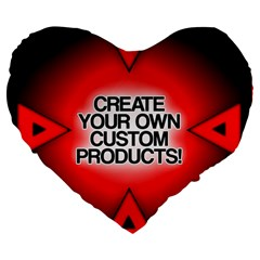 Create Your Own Custom Products And Gifts 19  Premium Flano Heart Shape Cushion