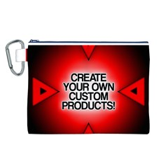 Create Your Own Custom Products And Gifts Canvas Cosmetic Bag (Large)