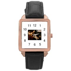 Abraham Rose Gold Leather Watch