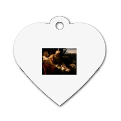 Abraham Dog Tag Heart (two Sided)