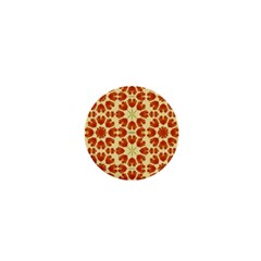 Colorful Floral Print Vector Style 1  Mini Button