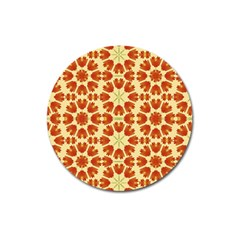Colorful Floral Print Vector Style Magnet 3  (round)