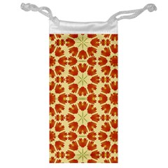 Colorful Floral Print Vector Style Jewelry Bag
