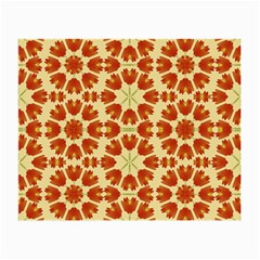 Colorful Floral Print Vector Style Glasses Cloth (Small, Two Sided)