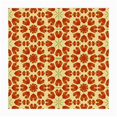 Colorful Floral Print Vector Style Glasses Cloth (medium, Two Sided)