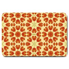 Colorful Floral Print Vector Style Large Door Mat
