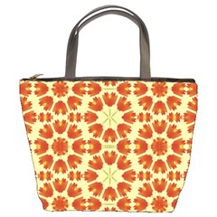 Colorful Floral Print Vector Style Bucket Handbag
