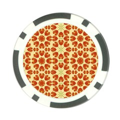 Colorful Floral Print Vector Style Poker Chip (10 Pack)