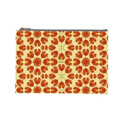 Colorful Floral Print Vector Style Cosmetic Bag (large)