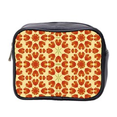 Colorful Floral Print Vector Style Mini Travel Toiletry Bag (two Sides)