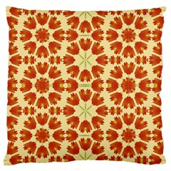 Colorful Floral Print Vector Style Large Cushion Case (two Sided)