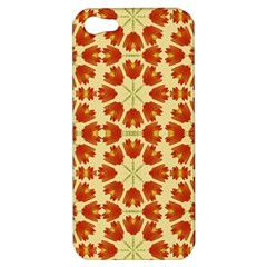 Colorful Floral Print Vector Style Apple Iphone 5 Hardshell Case