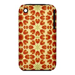 Colorful Floral Print Vector Style Apple iPhone 3G/3GS Hardshell Case (PC+Silicone)
