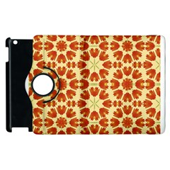 Colorful Floral Print Vector Style Apple Ipad 2 Flip 360 Case