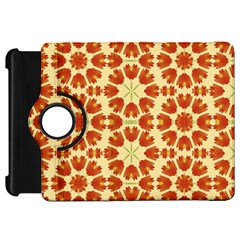 Colorful Floral Print Vector Style Kindle Fire HD Flip 360 Case
