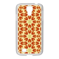 Colorful Floral Print Vector Style Samsung GALAXY S4 I9500/ I9505 Case (White)