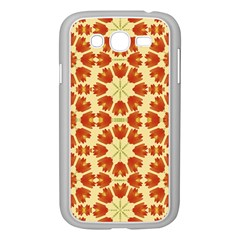 Colorful Floral Print Vector Style Samsung Galaxy Grand DUOS I9082 Case (White)