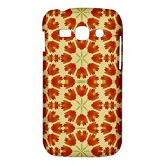 Colorful Floral Print Vector Style Samsung Galaxy Ace 3 S7272 Hardshell Case