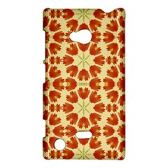 Colorful Floral Print Vector Style Nokia Lumia 720 Hardshell Case