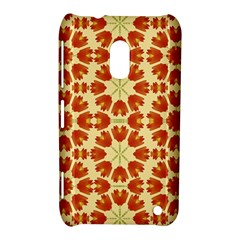 Colorful Floral Print Vector Style Nokia Lumia 620 Hardshell Case